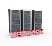 nätverks- och datornätserveror för text 3d Royaltyfri Bild