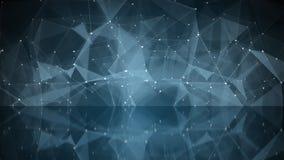 Nätverksform med reflexionsabstrakt begreppillustrationen Royaltyfri Fotografi