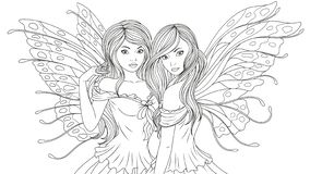 Free NTwo Beautiful Fairies Royalty Free Stock Image - 127622336