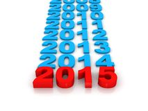 2015 is nu Stock Afbeeldingen