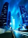 Nu de stad bij nacht Royalty-vrije Stock Afbeelding