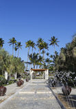 Nu het alle-Inclusieve die Hotel van Larimar bij het Bavaro-strand in Punta Cana, Dominicaanse Republiek wordt gevestigd Stock Afbeelding