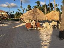 Nu Larimar semesterort i Punta Cana dominikan På stranden arkivfoton