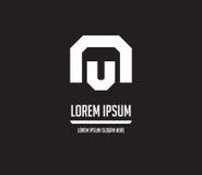 NU Logo Monogram Design Stock Photos