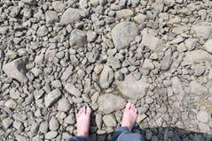 nu-pieds images libres de droits