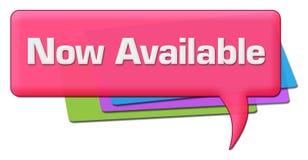 Nu tillgängligt rosa färgrikt kommentarsymbol stock illustrationer