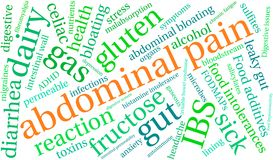 Nuage abdominal de mot de douleur Illustration Libre de Droits