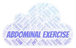 Nuage abdominal de Word d'exercice Wordcloud a fait avec le texte seulement illustration stock