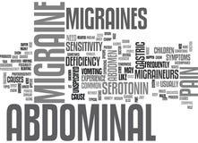 Nuage abdominal de Word de migraines Image stock