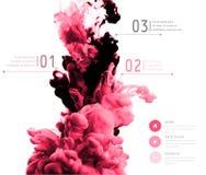 Nuage abstrait de vecteur Encrez le tourbillonnement dans l'eau, nuage d'encre dans le wa Image libre de droits