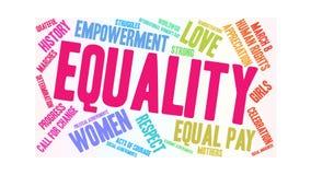 Nuage animé de mot d'égalité illustration stock