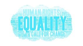 Nuage animé de mot d'égalité illustration libre de droits