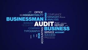 Nuage animé de mot des textes dus de gestion de l'information d'investissement de finances de mot d'homme d'affaires d'affaires d illustration de vecteur