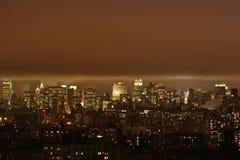 Nuage au-dessus d'horizon de New York Images stock