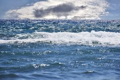 Nuage au-dessus de la mer Image libre de droits