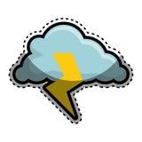 Nuage avec l'icône de rayon Image libre de droits