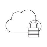nuage avec la conception de cadenas Images libres de droits