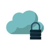 nuage avec la conception de cadenas Image stock
