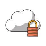 nuage avec la conception de cadenas Photographie stock