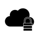 nuage avec la conception de cadenas Images stock