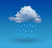 Nuage avec la pluie image stock