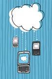 Nuage calculant/carnets et netbooks Illustration Libre de Droits