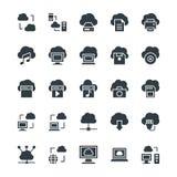 Nuage calculant les icônes fraîches 1 de vecteur Image stock