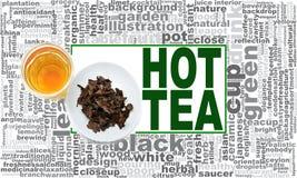 Nuage chaud de mot de thé Photographie stock libre de droits