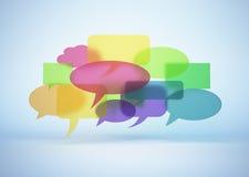 Nuage coloré de bulle de la parole Image libre de droits