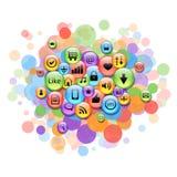 Nuage coloré fait de graphismes d'Internet Photographie stock libre de droits
