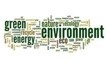Nuage conceptuel de mot d'écologie Images libres de droits