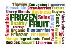 Nuage congelé de Word de fruit illustration libre de droits