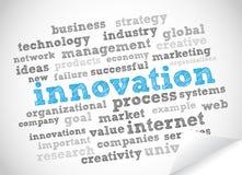 Nuage d'étiquette d'innovation Photo libre de droits