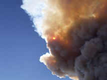 Nuage d'incendie Photo stock