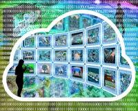Nuage d'Internet Photographie stock libre de droits