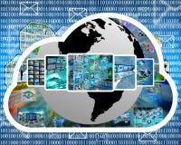 Nuage d'Internet Images libres de droits