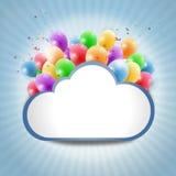 Nuage d'Internet avec les ballons colorés Images libres de droits