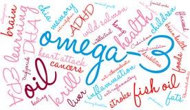 Nuage d'Omega-3 Word illustration libre de droits