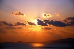 Nuage dans le coucher du soleil Photo libre de droits