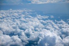 Nuage de ciel, vue supérieure d'avion images libres de droits