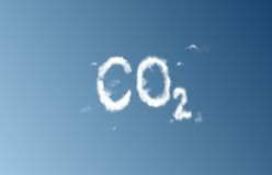 Nuage de CO2 Images stock