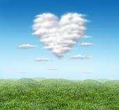 Nuage de coeur Photos libres de droits