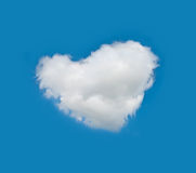 Nuage de coeur Photos stock
