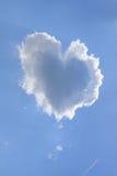 Nuage de coeur Photographie stock
