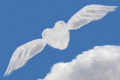 Nuage de coeur, cadre des textes Images libres de droits