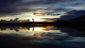 Nuage de coucher du soleil de ciel Photos stock