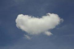 Nuage de forme de coeur Image stock