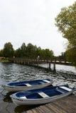 Nuage de Galve de lac par jour Photos stock