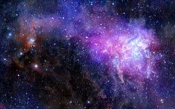Nuage de gaz de nébuleuse dans l'espace extra-atmosphérique profond Image libre de droits