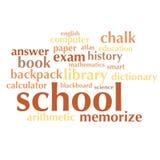 Nuage de liste de mots au sujet d'école et d'éducation Photo stock